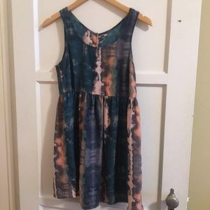 UO Babydoll Watercolor Dress